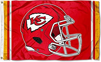 MVPRING Football Team Large 3x5 Helmet Grommet Pole Two Sided Flag (Without Flagpole)