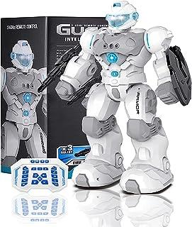 هدیه ربات Masefu RC ، اسباب بازی ربات برای ربات مبارزه با حرکات قابل برنامه ریزی حرکت کودک ، ربات تک شارژ USB ، ربات Sing Walk Shoot Shoot با موسیقی سبک ، هدیه تولد برای دختران پسر