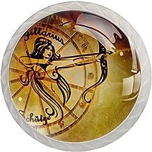 AITAI Contactoren dierenriem horoscoop astrologie ronde kast knop 4 pack trekt handgrepen