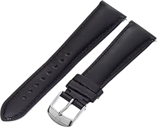 MICHELE MS20AB050001 20mm Leather Black Watch Strap
