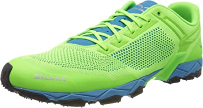 Salewa Men's Trail Running Shoes, Green Fluo Green Blue Danube 5810