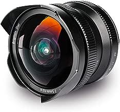 Brightin Star 7.5mm F2.8 APS-C 180° Wide Angle Fisheye Lens for Canon EF-Mount Mirrorless Cameras M M2 M3 M5 M6 M10 M10O M50