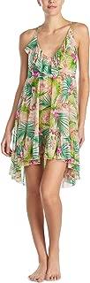 Womens Ruffled Botanical Pajama Night Gown