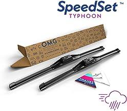 """SpeedSet Typhoon SP-2219 Wiper Blades - 22"""" + 19"""", 2 Pack"""