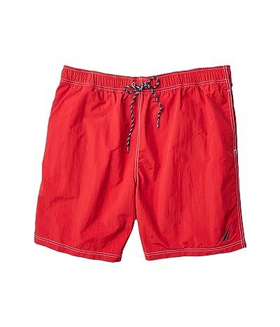 Nautica Big & Tall Big Tall Solid Swimwear (Red 1) Men