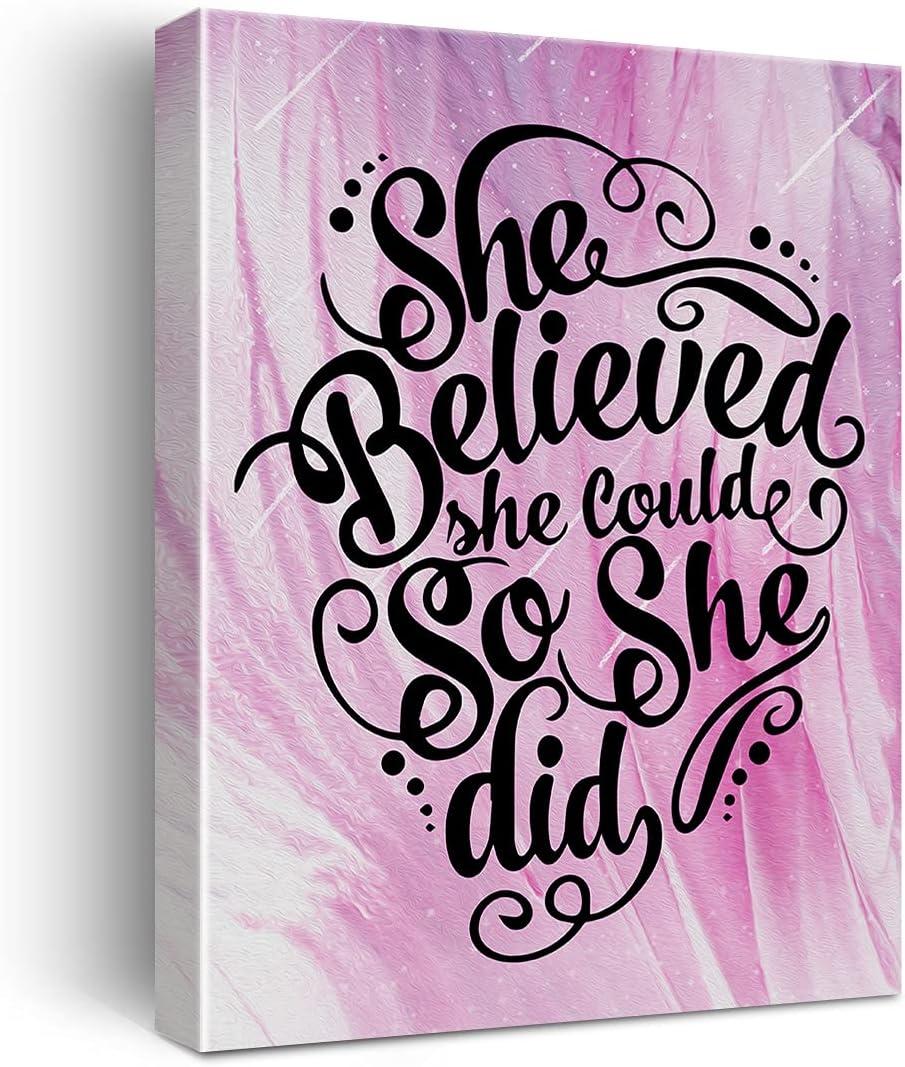 特価品コーナー☆ Inspirational Quotes 今季も再入荷 She Believed Could Did Ca So Poster