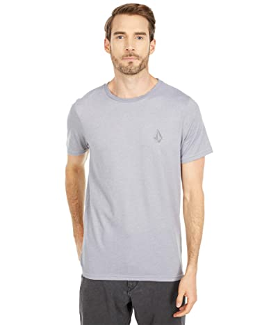 Volcom Stone Tech Short Sleeve Tee (Heather Grey) Men