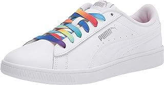 حذاء رياضي للفتيات ماركة PUMA Vikky 2، أبيض وفضي