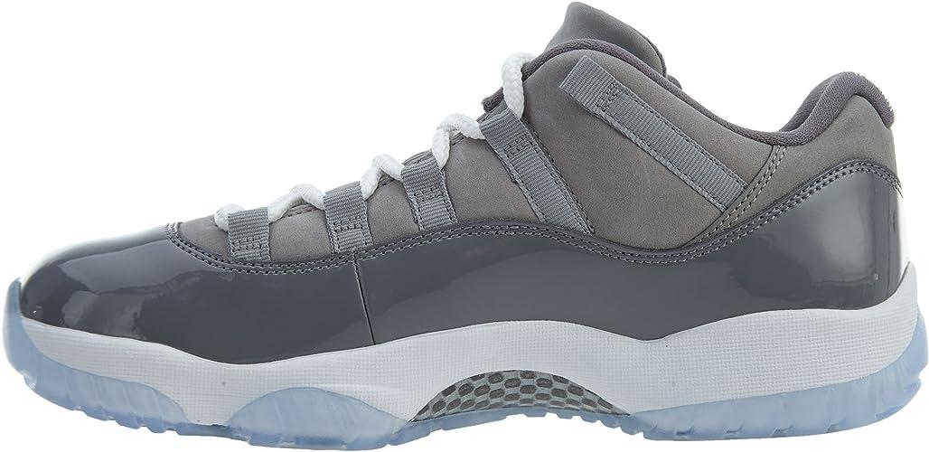 Amazon.com   Jordan Men's Air 11 Retro Low, Medium Grey/White ...