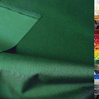 TOLKO wasserfester beschichteter Nylon Stoff | fester Segeltuch Planenstoff als Nylonplane für Aussenbereich | Reißfest und Langlebig | Meterware 150cm breit schwerer Outdoorstoff Dunkel-Grün