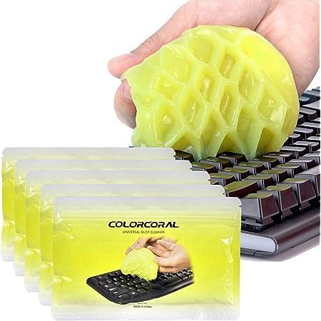 ColorCoral キーボード 掃除 スライム パソコン 隙間 ホコリ取り 車内掃除 クリーナー 繰り返し 多用途 70G*5