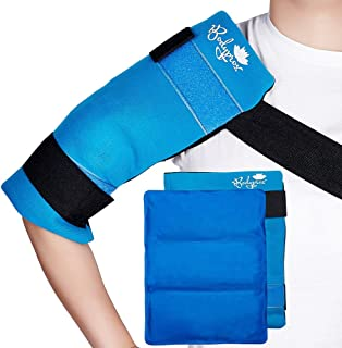 Flexible Large Gel Ice Pack for Shoulders Arms Back and Thighs. Hot & Cold Therapy Wrap