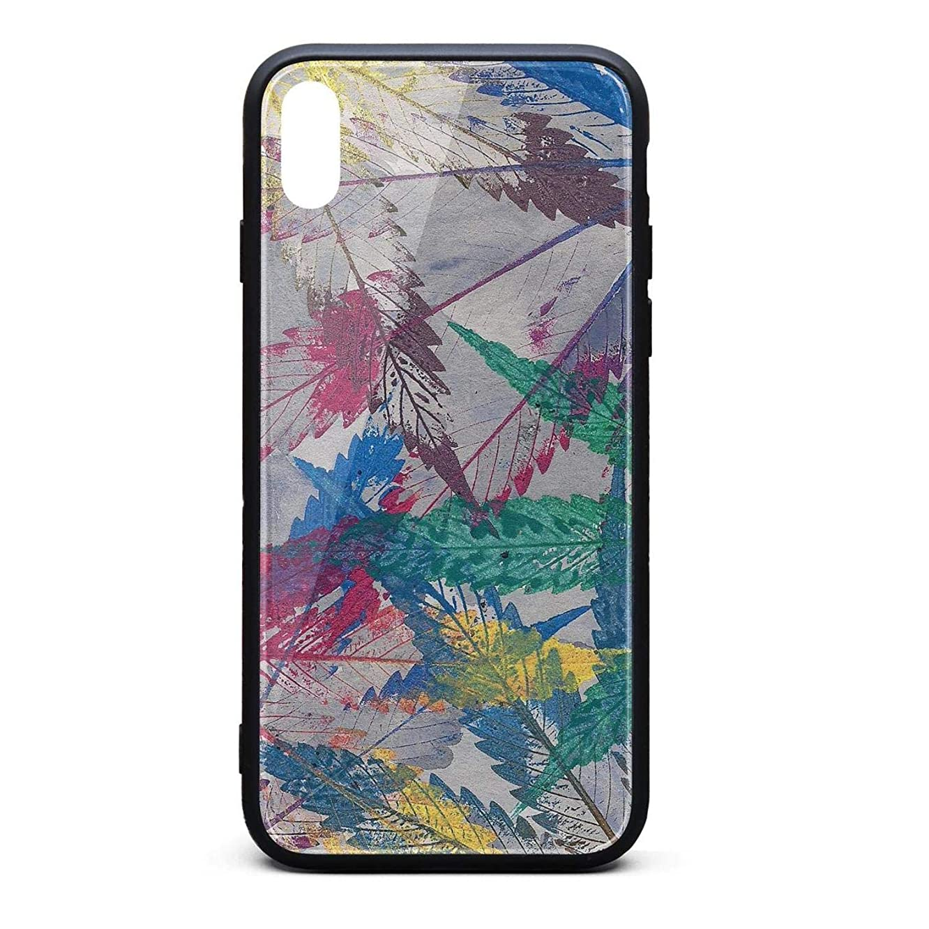 for iPhone X Case Cannabis Bong Weed Scratch-Resistant TPU Rubber Frame Hard PC Back Shell