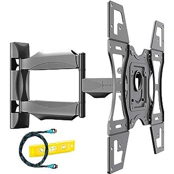 Invision Soporte TV de Pared para 26 a 60 Pulgadas Pantallas - Inclinación, Giratoria y Extensión - Brazo Único Ultra Fuerte - Máx. VESA 400x400mm - Capacidad de Carga Máxima 40kg (HDTV-L)