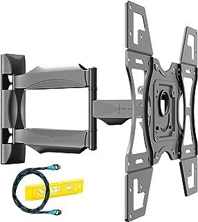 Invision Support Mural TV pour 26-60 Pouces (66-152 cm) Écrans, Max VESA 400x400mm avec Bras Orientable, Inclinable et Ext...