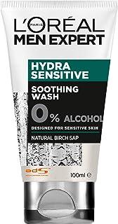 L'Oréal Paris Men Expert Hydra Sensitive Soothing Face Wash For Men, Alcohol-Free, for Sensitive Skin, 100ml