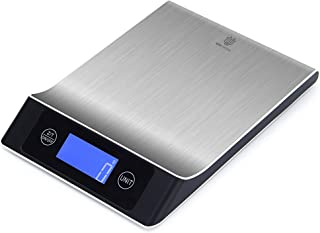Digital Multifunction Kitchen Food Scale - 7 Units of Weight - Stainless Steel - 11Lb,5Kg