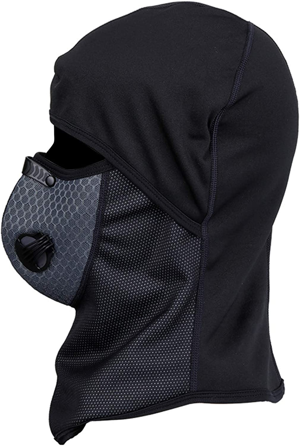TOBWOLF Windproof Ski Balaclava Mask, Dustproof Masks with Breathable Vents & Activated Carbon Filters for Exhaust Gas, Skiing, Cycling, Motorcycling