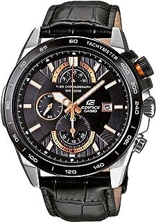 ساعة للرجال من - كاسيو- بمينا لون اسود، بسوار من الجلد - [EFR-520L-1AVEF]