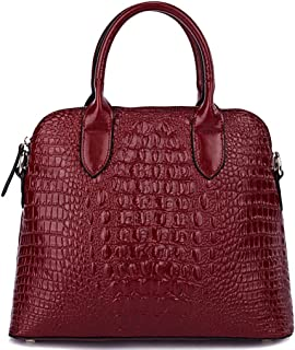 Women's Cowhide Genuine Leather Cross Body Shoulder Handle Amphibious Bag