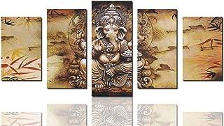Canvas Art Prints Framed Hindu Fairy Wall Art India Ganesha Yoga Goddess Elephant Wall Decor