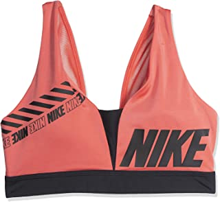 Nike Women's Sprt Dstrt Indy Plunge Bra, Black/Ember Glow