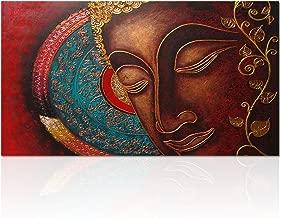 Visual Art Decor Buddha Canvas Wall Art Buddha Painting Canvas Prints Keep Inner Peaceful Buddha Artwork for Living Room Yoga Room