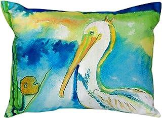 "Betsy Drake NC138 White Pelican No Cord Pillow,,16"" X20"""