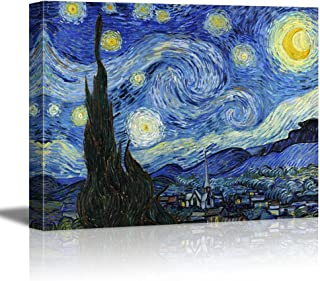 wall26 - Starry Night by Vincent Van Gogh - Canvas Art Wall Decor - 36