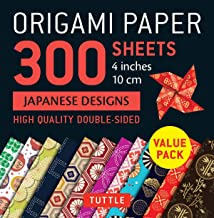 Origami Paper 300 Sheets Japanese Designs 4 (10 CM): Tuttle Origami Paper: High-Quality Double-Sided Origami Sheets Printe...