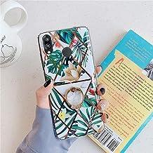 Surakey Kompatibel för Huawei P20 Lite skal, Huawei P20 Lite marmorfodral blomfodral med ringhållare gummi stötfångare mju...