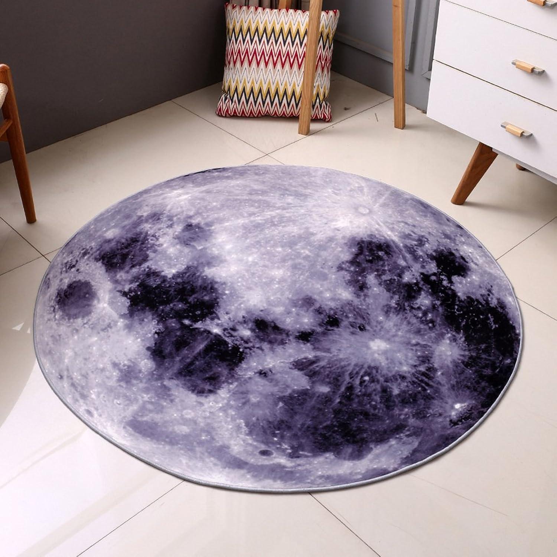 Circular Carpet Living Room,Bedroom,Study mat Computer Chairs,Plush Thin Carpet-A diameter80cm(31inch)