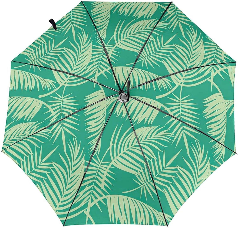 Tropical Palm Tree Folding Umbrellas C Windproof 35% OFF Gifts Travel Umbrella