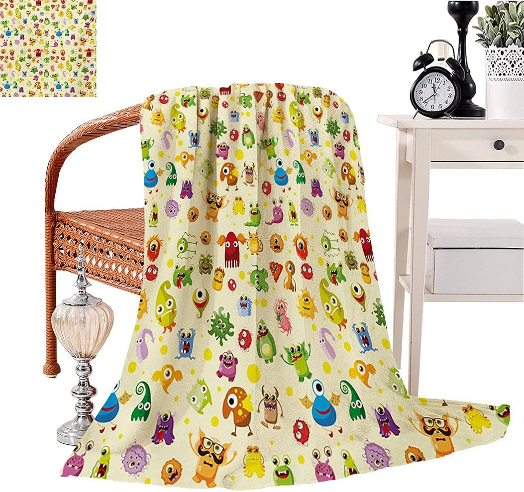 Inexpensive 25% OFF Kids Flannel Plush Throw Blanket Drawings Sty Cartoon Different