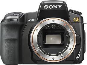Sony DSLR-A200 - Cámara digital (Auto, Nublado, Modos personalizados, Luz de día, Flash, Fluorescente, Sombra, Tungsteno, Paisaje, Noche, Puesta del sol, Blanco y Negro, Vivo, thumbnails, Batería, Juego de cámara SLR)