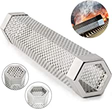 MONBLA 12 Inch BBQ Pellet Smoker Tube Stainless Steel Pellet Tube Smoker Smoker Pipe Smoker Tube Tor Hot or Cold Smoking