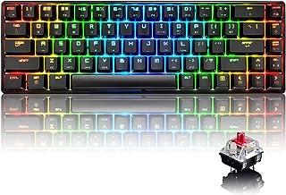 60% echt mechanisch gaming-toetsenbord type C bekabeld 68 toetsen LED backlit USB waterdicht toetsenbord 18 Chroma RGB-ver...