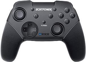 ECHTPower Mando para Nintendo Switch Controlador Inalámbrico con Batería de 600mAh Función de DualShock y Turbo con Gyro Axis Gamepad Bluetooth Joystick