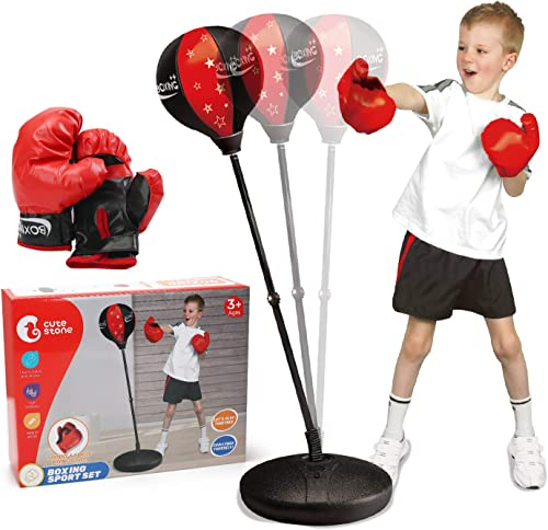wholesale CUTE STONE Punching Bag with Boxing Gloves, Boxing Bag for Kids, Boxing Toy with Adjustable wholesale Stand for wholesale Boys and Girls online sale