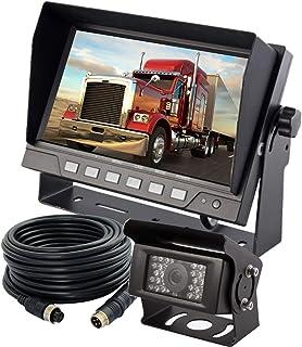 "AUTOPAL 7"" Wired Reverse Rear View Backup Camera System,IP69K Waterproof Camera, Night Vision 28 PCS IR Lights, Vibration-... photo"