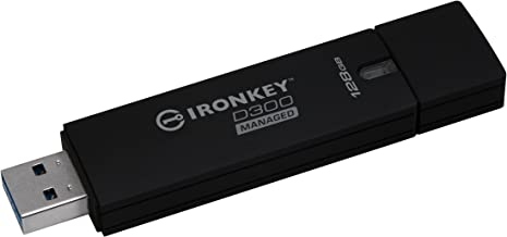 Kingston 128GB Ironkey D300 Managed Encrypted USB 3.0 Fips 140-2 Level 3 USB Flash Drive Model IKD300M/128GB