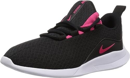 Nike Viale Viale (GS), paniers Basses Femme, Noir (noir Rush rose blanc 001), 40 EU