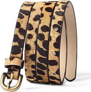 Leopard Print Belt Women's leather Waist Belt Ladies Haircalf Belt Casual Waistband