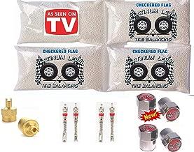 Tire Balance Beads 4-8oz Bags, 32oz Tire Balancing Beads Kit, 35x12.50r15 35x12.50r16 35x12.50r17 35x14.50r15 35x14.50r16 35x14.50r17 Tire Beads