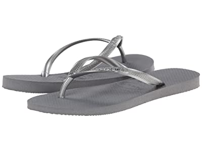 Havaianas Slim Flip Flops (Steel Grey) Women
