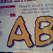 Peanuts Letters Eureka Punch-Out Reusable 4 Deco Letters 212 Pieces
