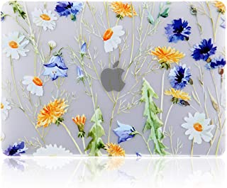 iDonzon MacBook Air 13 inch Case (A2179/A1932, 2020 2019 2018 Release), 3D Effect Matte Clear See Through Hard Cover Compatible Mac Air 13.3 inch with Retina Display Touch ID - Floral Pattern