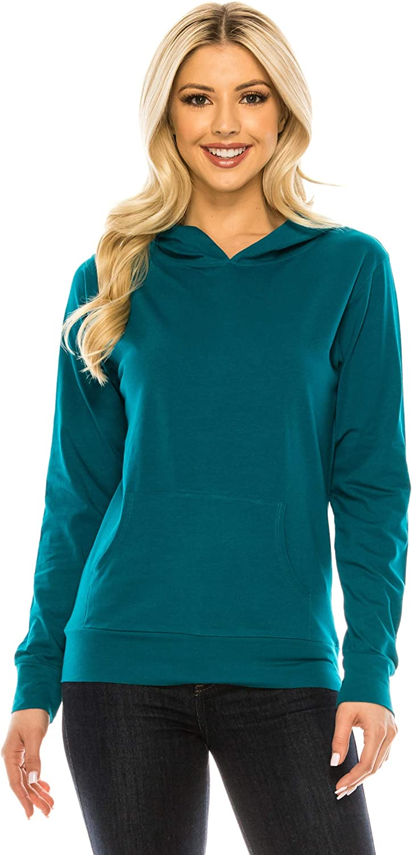 EEVEE Women's Pullover Hoodie Sweatshirt – Casual Lightweight Thin Long Sleeve Soft Hooded Top Sweater Active Sports Yoga