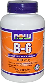Now Foods B-6 100 mg - 250 Capsules