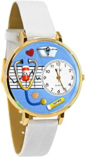 product image for Whimsical Watches Unisex G0620013 Nurse White Leather Watch
